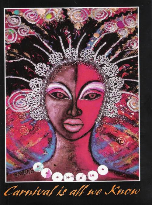A publication I produced for Daily Observer to mark the 50th anniversary of Carnival and featuring various Carnival arts including this cover design by famed artist and costume designer Heather Doram.