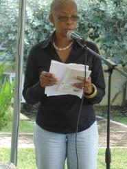 Esther Phillips, editor of BIM, at the Antigua and Barbuda International Literary Festival.