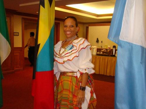 Keva with Flag