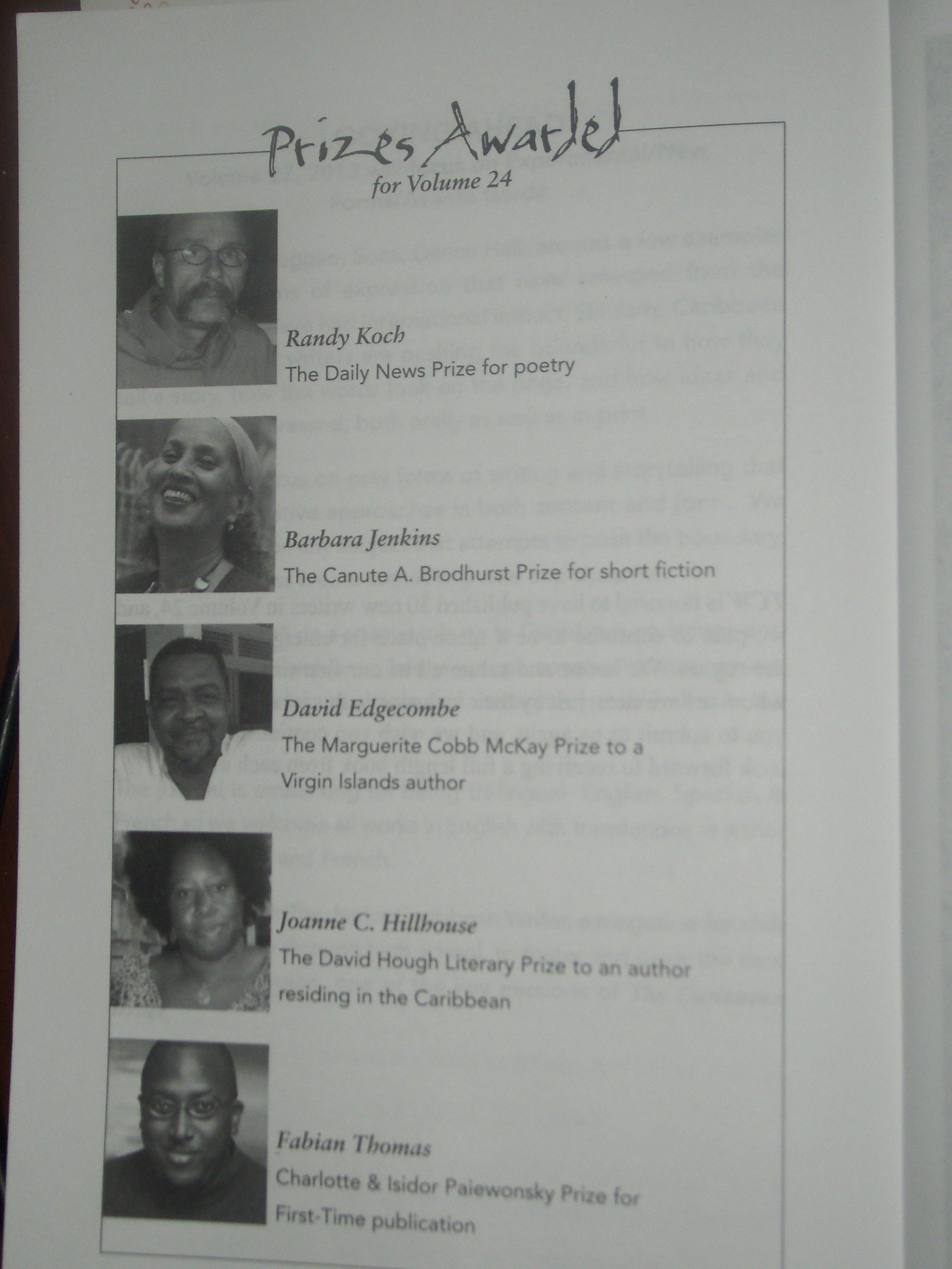 Caribbean Writer Award (2)