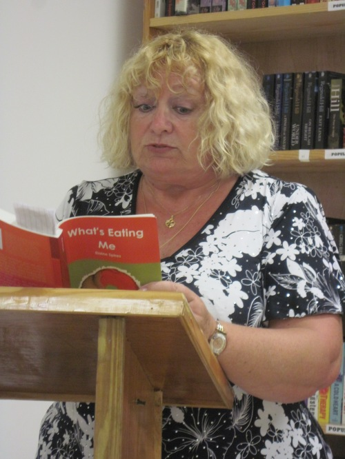 Spires reading at a her previous Best of Books event.