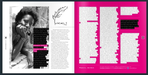 Wadadli Pen was profiled in the first edition of the Carib Art house magazine, a sleek publication spotlighting an eclectic mix of homegrown artists. In addition to the interview with Hillhouse, the publication also printed the winning flash fiction story by 2015 winner Margaret Irish.