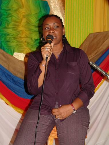 Poet Dotsie Isaac Gellizeau is seen in this Laura Hall photo participating in a joint Wadadli Pen-Museum fundraiser (Word Up!) in 2006. Gellizeau has also served as a judge (2011) and as a special guest at the awards ceremony (2015).