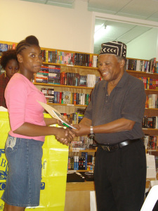 Michaela Harris was one of the Wadadli Pen finalists, 2012, who would go on to participate in the Jhohadli Summer Youth Writing Project, 2013.