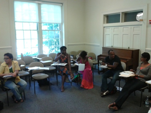 Sometimes we have to travel to grow. Here I am participating in the Callaloo Writers Workshop at Brown University in Rhode Island.