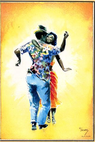 Calypso Dancers - One of my favourites from the late E. T. Henry, one of the pioneers of local art.