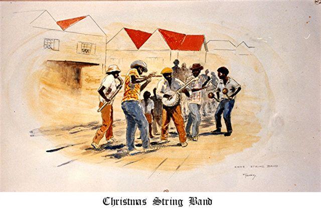 Christmas Stringband GreetingCard