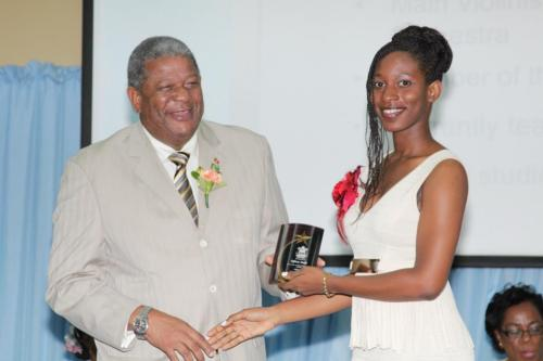 Tiffany Smith is a Wadadli Pen 2012 finalist and much more. (A Eustace Samuel photo from the Observer Media Group facebook page)