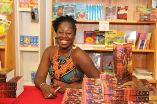 Me at the 2012 launch of my book. (Photo by byZIA Photography)