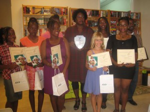 Most of the awardees of Wadalipen with Joanne Hillhouse