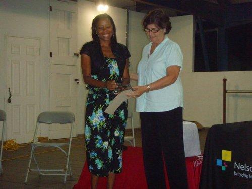 Devra accepting ABII trophy