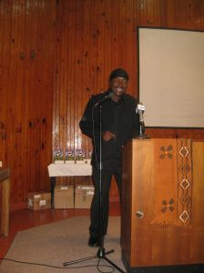 one of the artistes he writes for, Stumpy, sings at the book lauch.