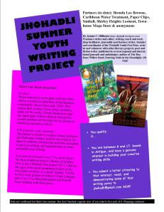 jhohadli summer writing project flyer