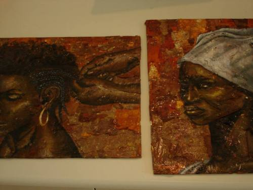 Art work by Shem Alexander at Art at the Ridge. Shem was the 2010 overall winner of the Wadadli Pen art prize.