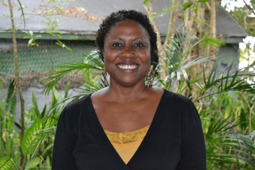 Margaret Irish - winner inaugural Lead by Example Teachers Prize - Wadadli Pen 2014 Challenge