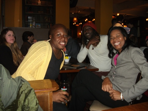 At the pub with Kei and Belizean writer and fellow panelist Ivory Kelly.