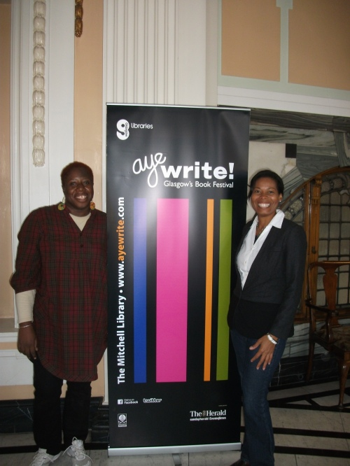 with co-panelist Ivory Kelly of Belize.