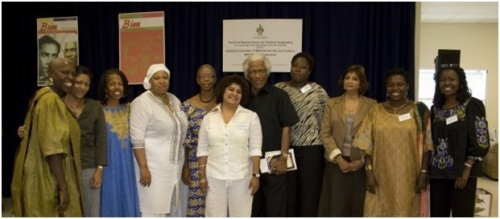 One of the first major regional literary panels I was asked to be a part of - after reaching out to them - the BIM forum celebrating Caribbean Women Writers, 2008. The man in the mix is legendary Caribbean writer George Lamming.