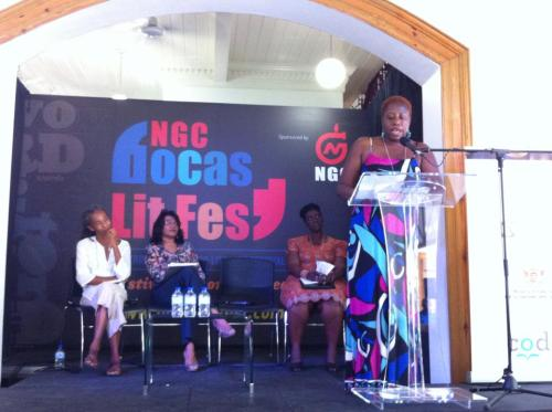 Reading an excerpt of my forthcoming manuscript which took second place for the Burt Award for Young Adult Caribbean Literature at the Bocas Lit Fest in Trinidad, 2014.