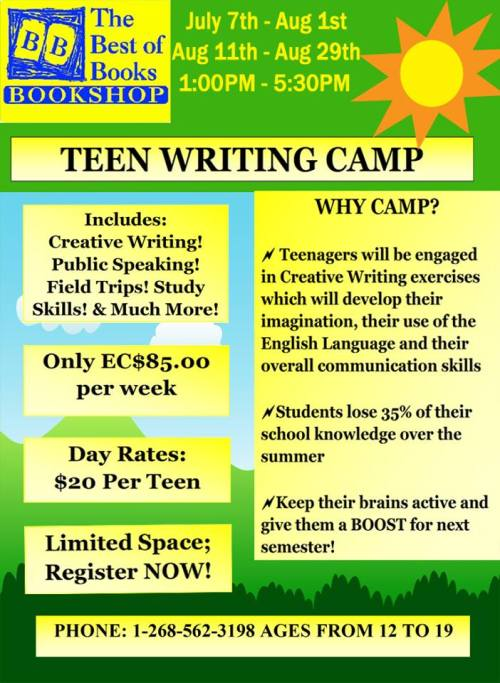 Teen Writing Camp 2014