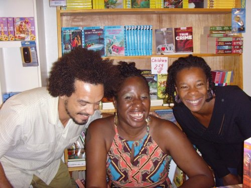 With Janie and her husband and business partner Gulliver Johnson at the 2012 launch of my book Oh Gad! - out in mass market paperback as of July 2014