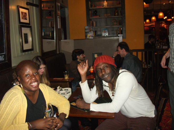 That's Kei to the right - hanging in Glasgow (with me and others), 2014.