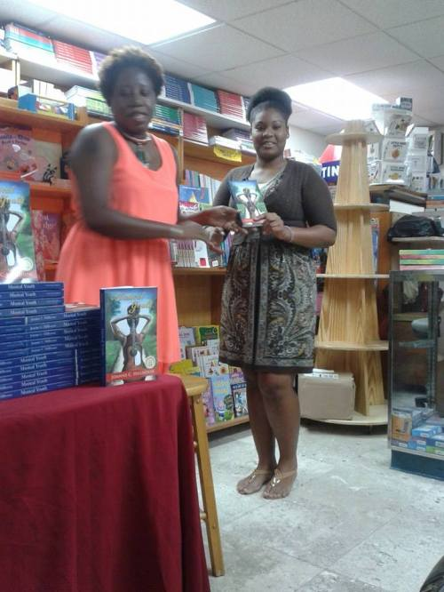 Alexandra Spence was an honourable mention in the 18 to 35 category of the 2014 Wadadli Pen Challenge. She read her story Why did I get Punished? At the launch, and received a copy of my book Musical Youth as a token of my thanks. (Read her story by using the search feature to the right).