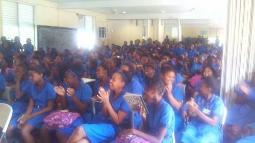 ...to say the auditorium at the Antigua Girls High School [AGHS] was packed during my visit would be an understatement.