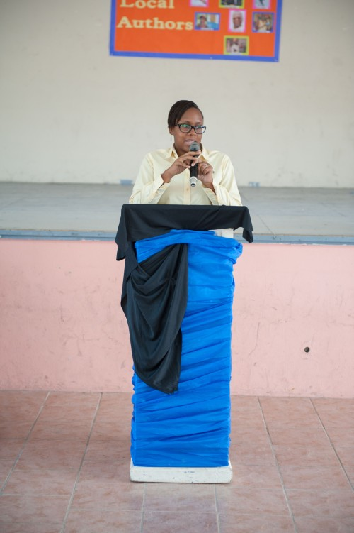 Floree Williams during her presentation.