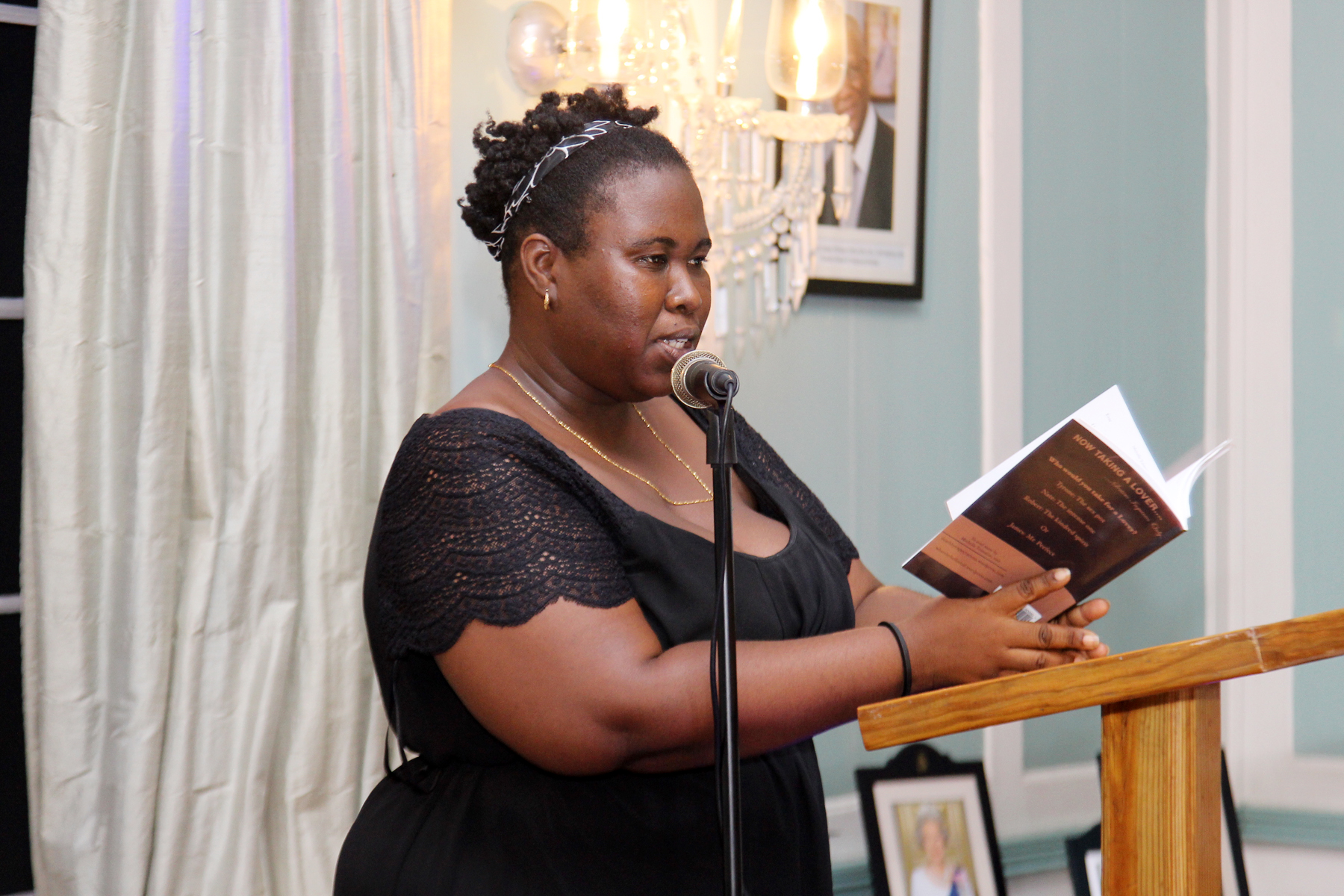 Michelle Toussaint read from her book, Now Taking a Lover.