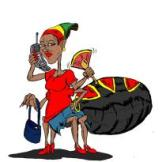 The challenge in 2013 was to create anansi characters - it was in fact an audition for a possible assignment for a forthcoming book. Garvin Benjamin had the top art entries. This is his version of Ms. Anansi.